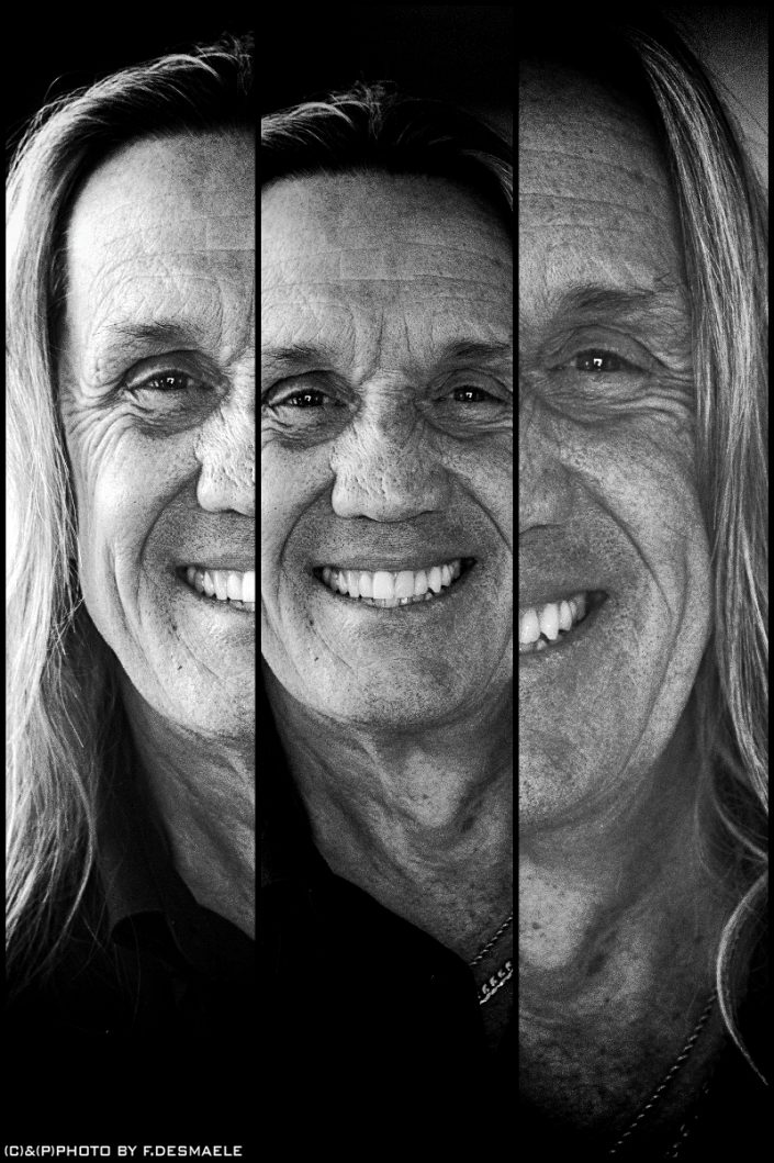 Nicko McBrain Triplefaces by Francesco Desmaele