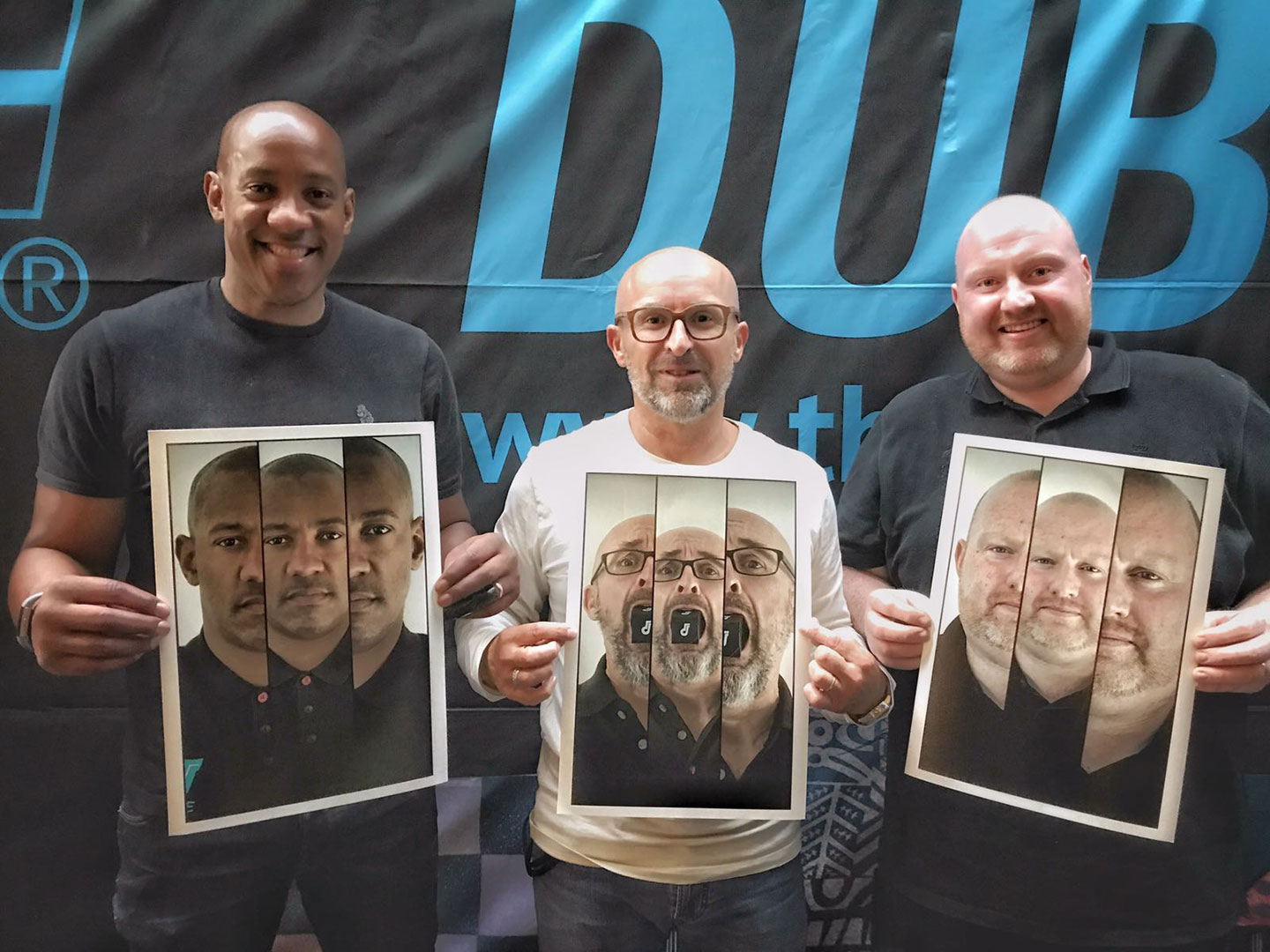 Dion Dublin, Mike Dolbear and Scotty, 3 Triplefaces amigos