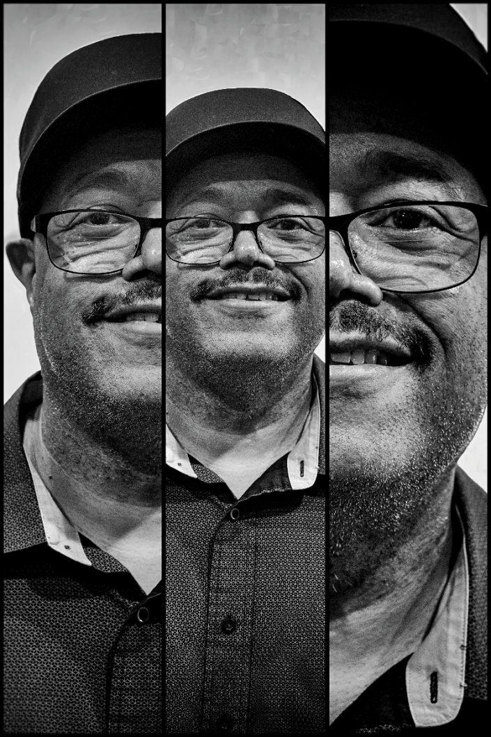 Dennis Chambers Triplefaces by Francesco Desmaele
